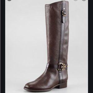 Tory Burch Elina Tall Brown Leather Riding Boot 7